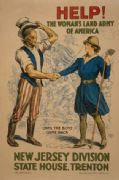"Vintage WW1 Poster ""Help! The womans Lands Army of America"""